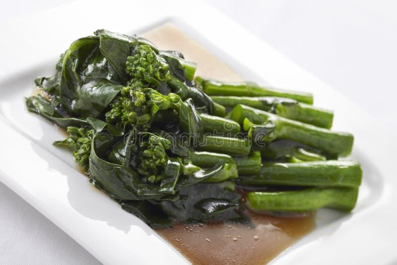 Émoi de Hong Kong Kale frit en sauce à huître images stock