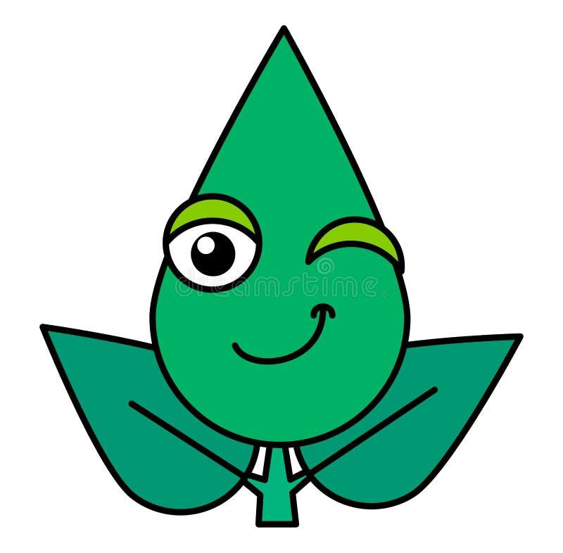 Émoticône clignotante botanique ligne mince icône illustration de vecteur