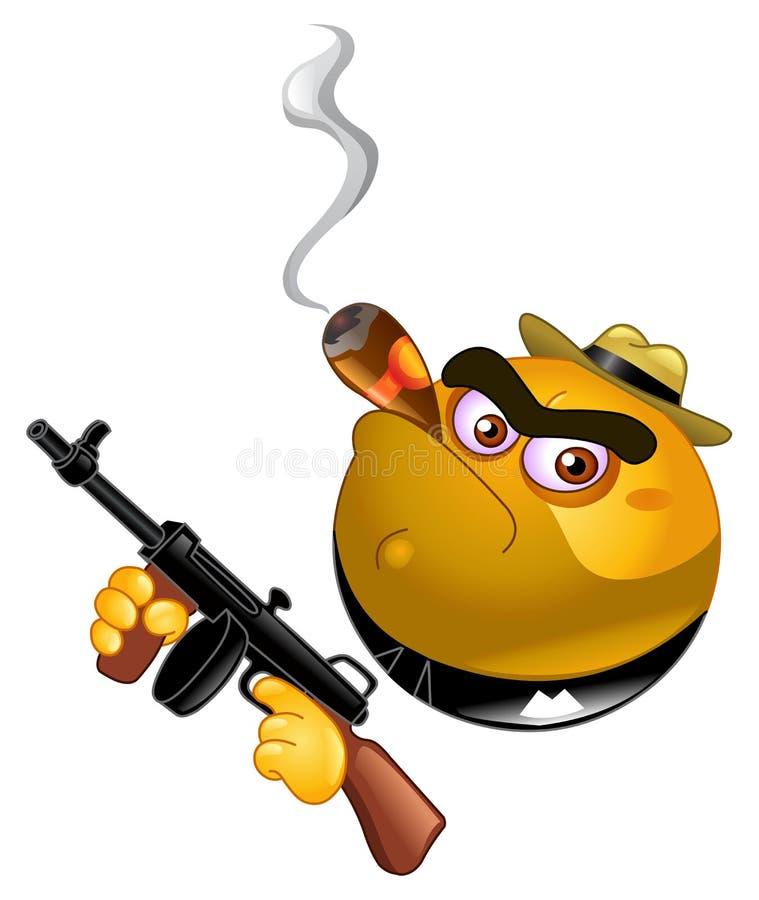 Émoticône de bandit illustration de vecteur