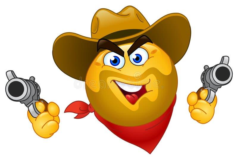 Émoticône de cowboy illustration de vecteur