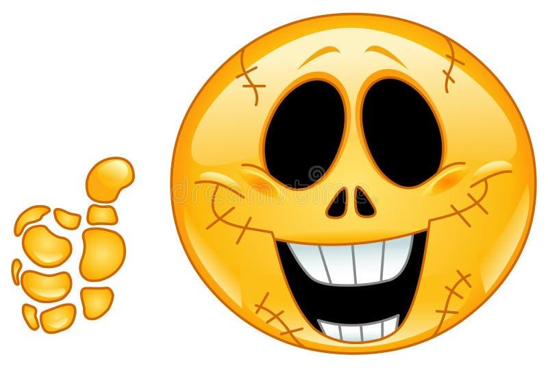 Émoticône de crâne illustration de vecteur