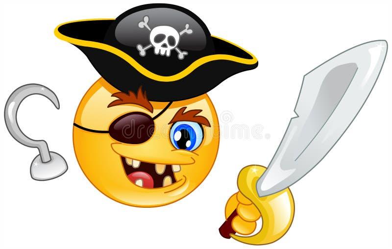 Émoticône de pirate illustration stock