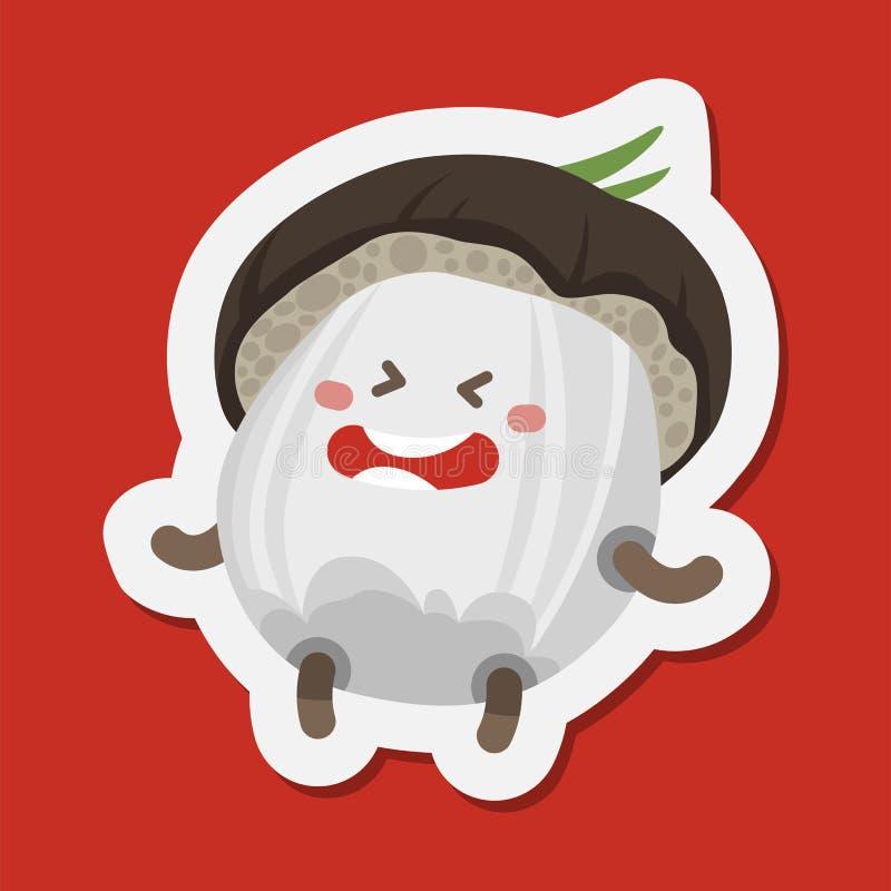 Émoticône drôle de champignon, avatar illustration de vecteur