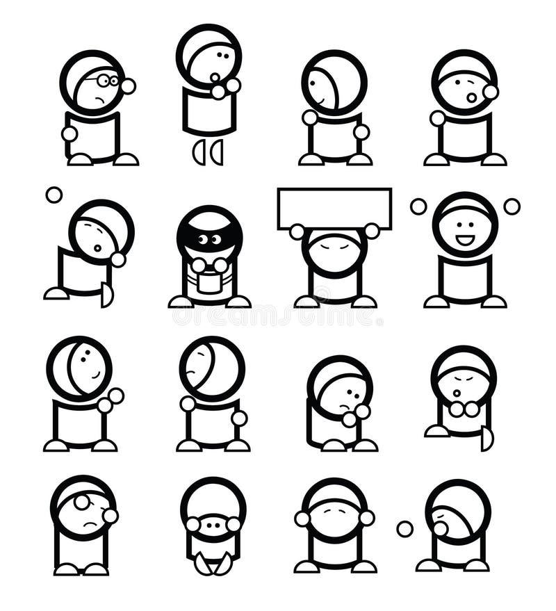 Émoticônes drôles illustration libre de droits