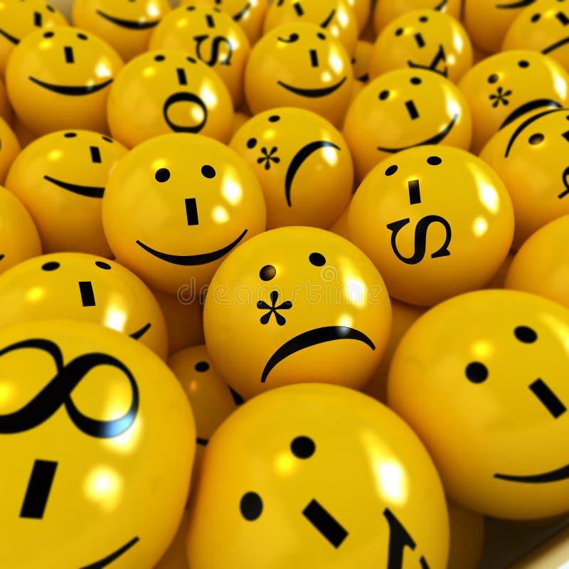 Émoticônes jaunes illustration de vecteur