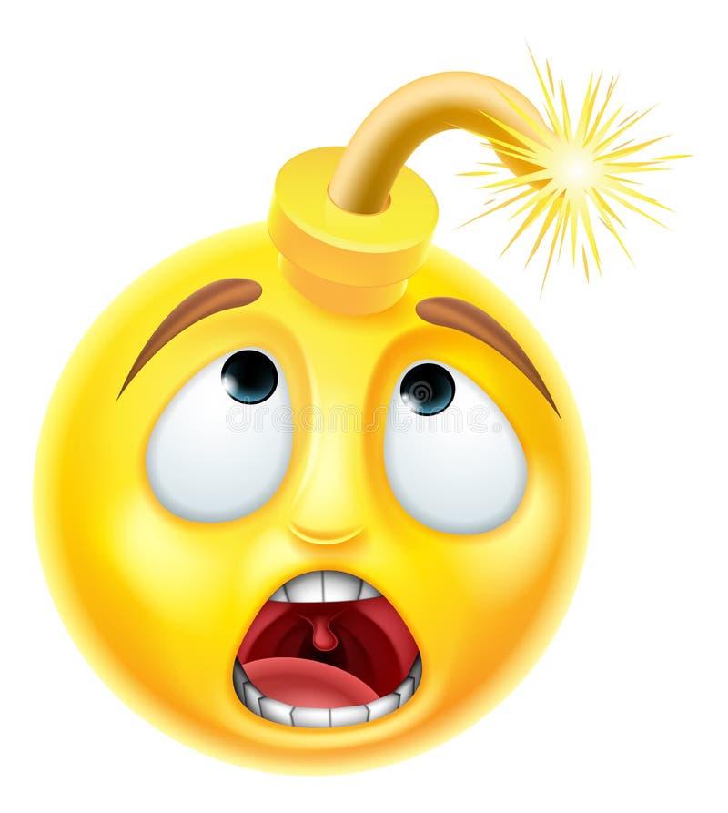 Émoticône d'Emoji de bombe illustration libre de droits