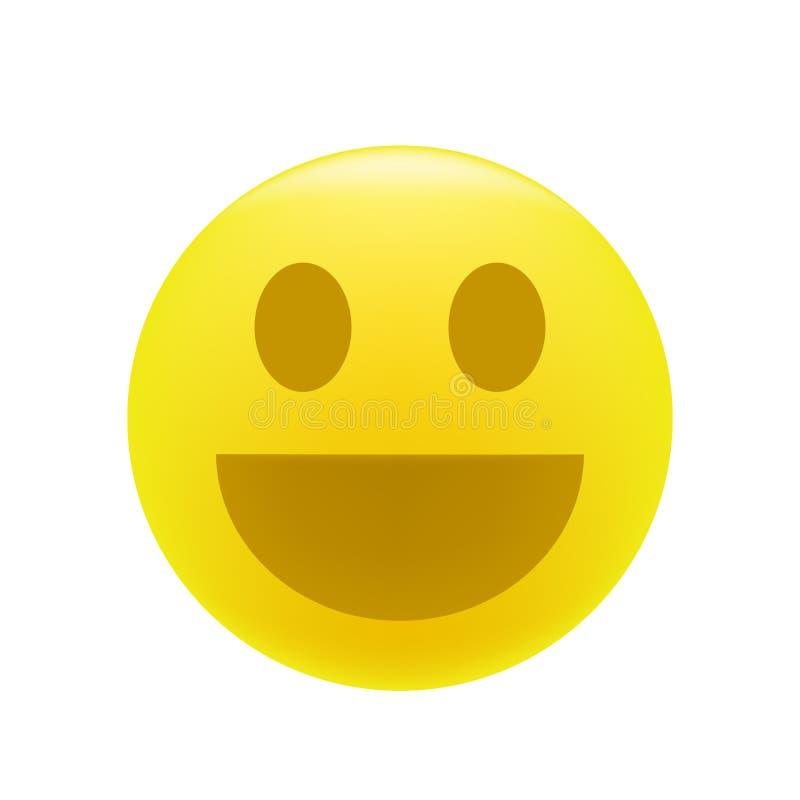 Émoticône de sourire ou riante illustration stock