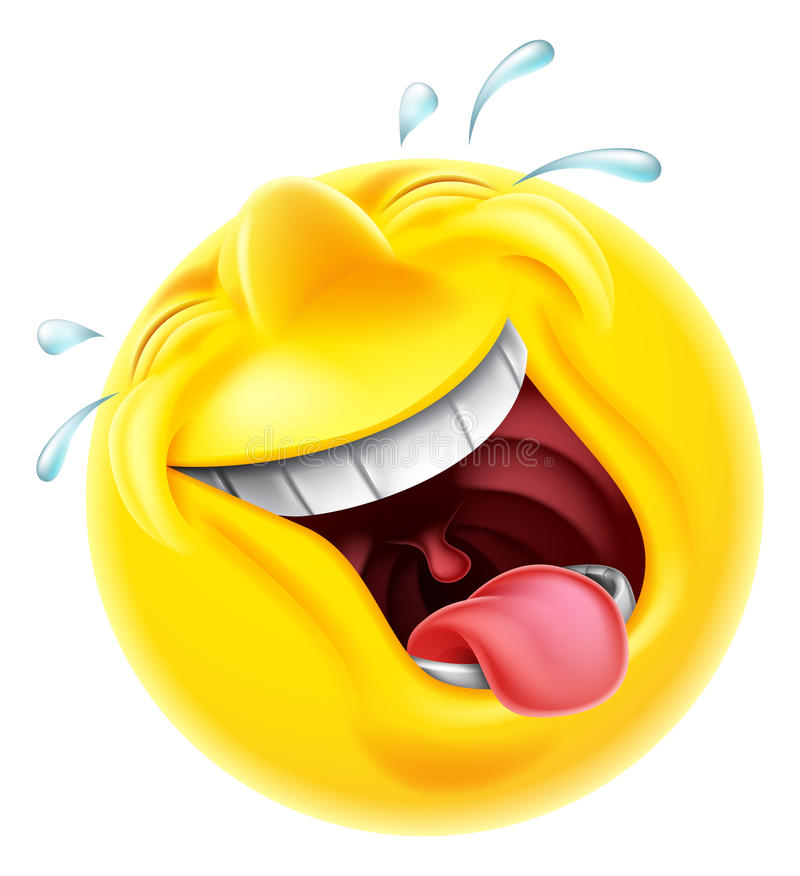Émoticône riante d'Emoji illustration stock
