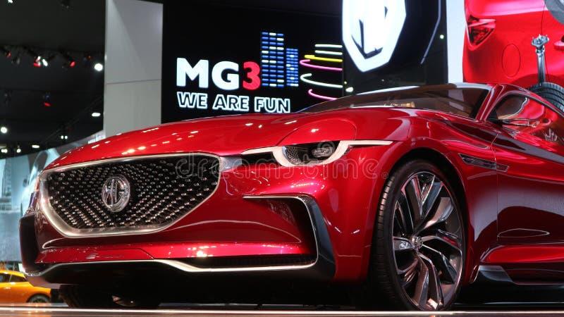 Émotion électrique de MG de voiture de sport photos stock
