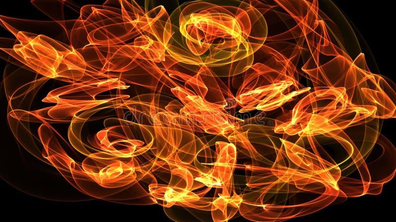 émotion de l'illustration 3D de mouvement dans l'espace, l'énergie, des couleurs et des formes illustration de vecteur