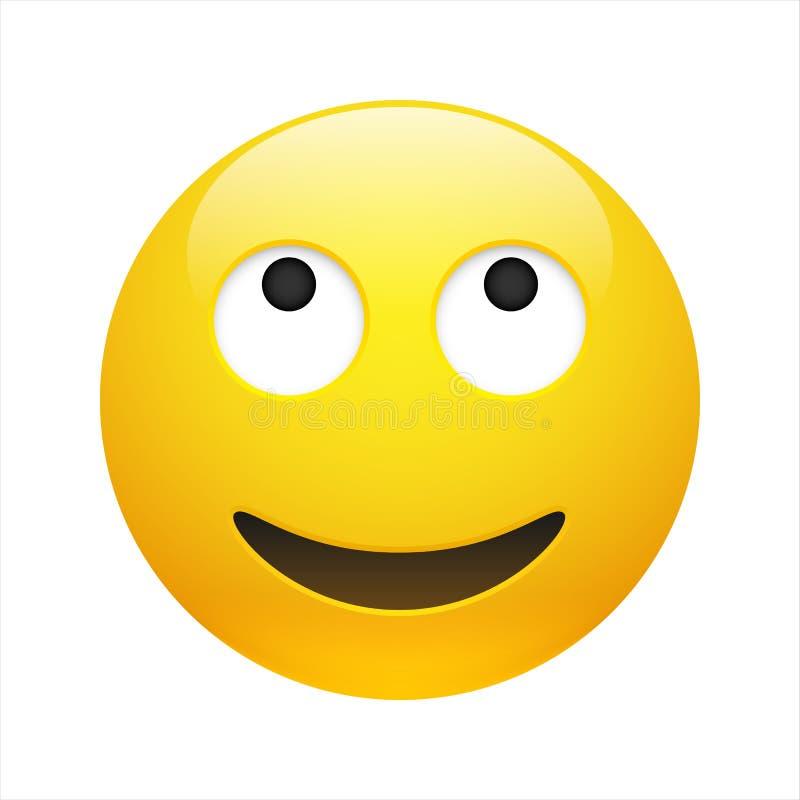 Émotion de rêve jaune vectorielle avec yeux ouverts illustration libre de droits