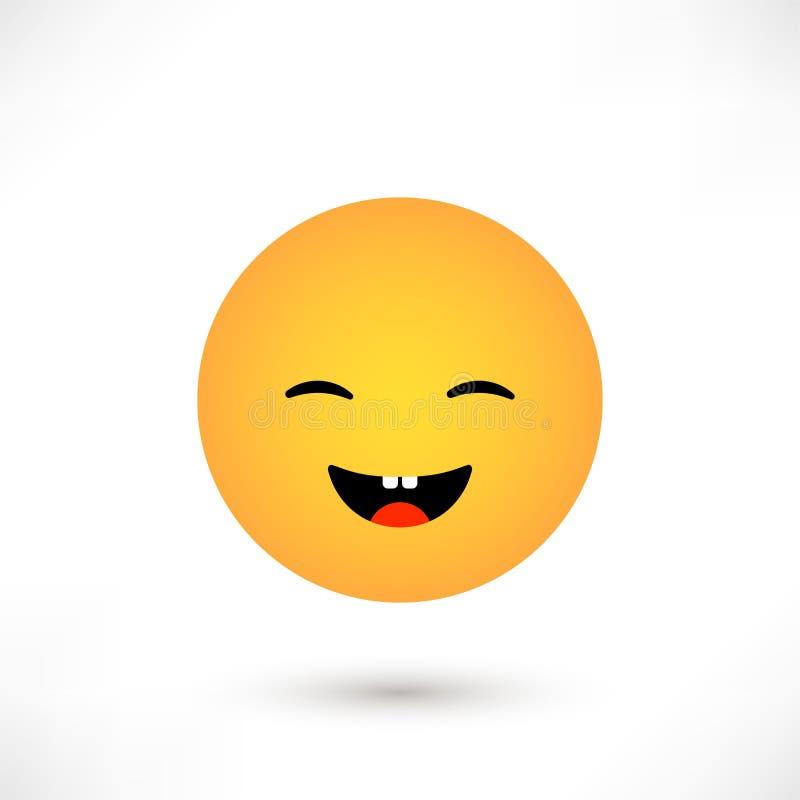 émotion de rire illustration de vecteur
