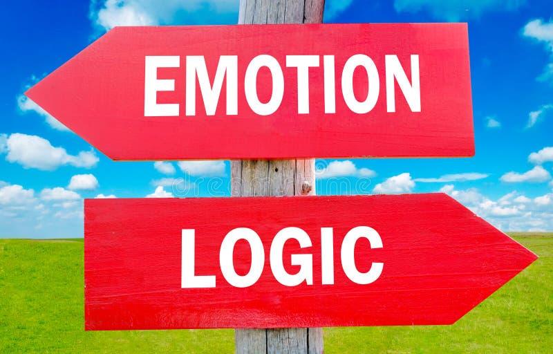 Émotion et logique image stock