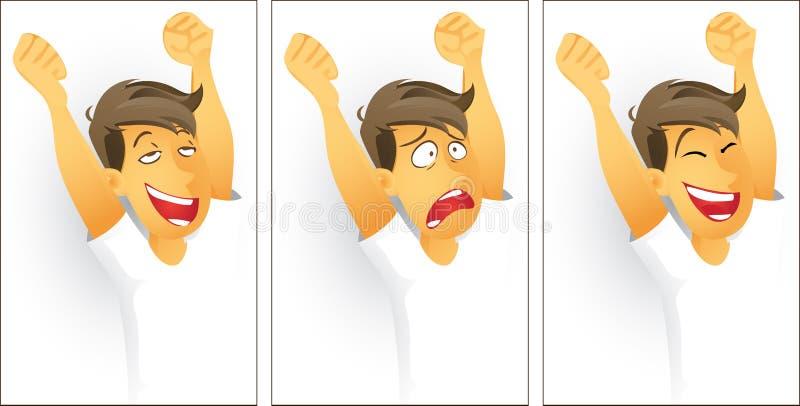 Émotions illustration libre de droits