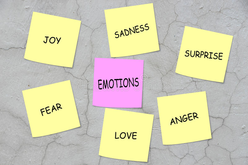 émotions photographie stock