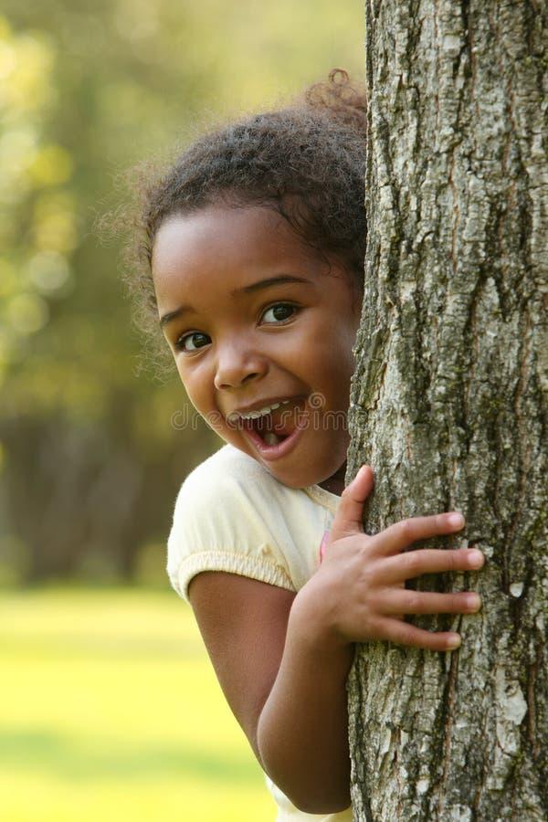 Émotions, enfant espiègle d'Afro-américain photographie stock libre de droits