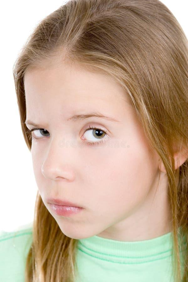 Émotions. Jeune fille sceptique image libre de droits