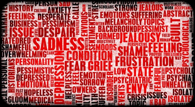 Émotions négatives illustration libre de droits