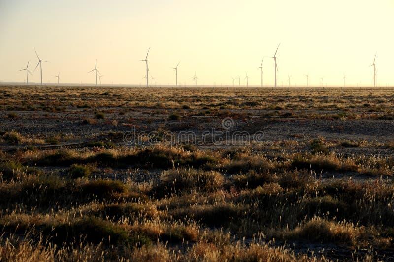 Énergie éolienne dans le gobi photos libres de droits