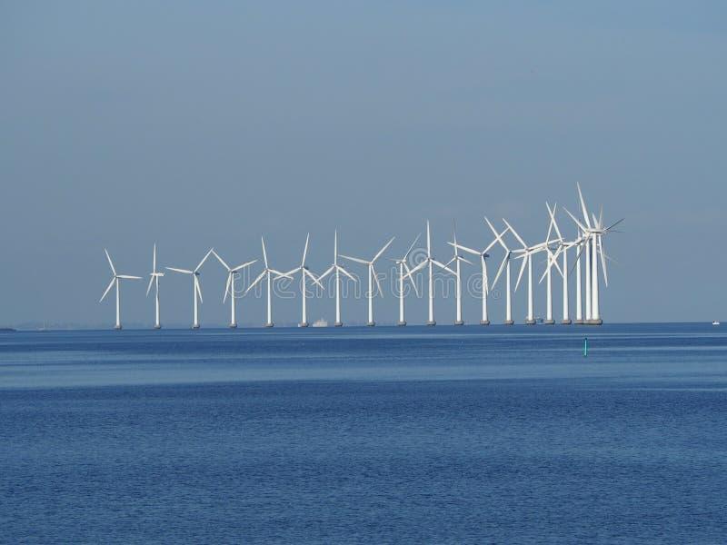 Énergie éolienne de Copenhague images stock