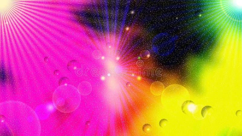 Énergie cosmique et neige illustration libre de droits