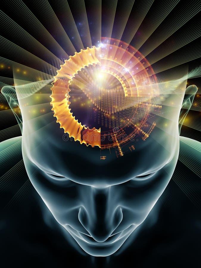 Énergie d'esprit humain illustration libre de droits