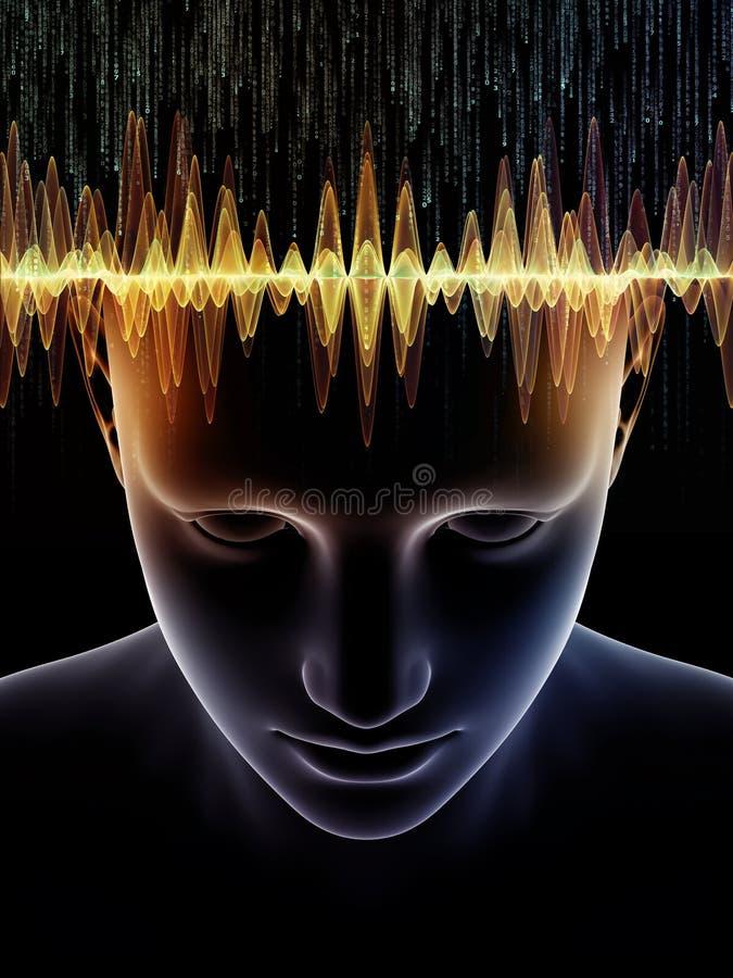 Énergie d'esprit humain illustration de vecteur