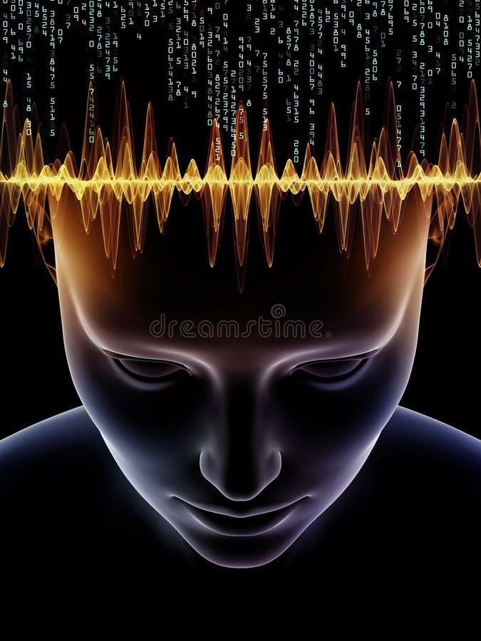 Énergie d'esprit humain illustration stock