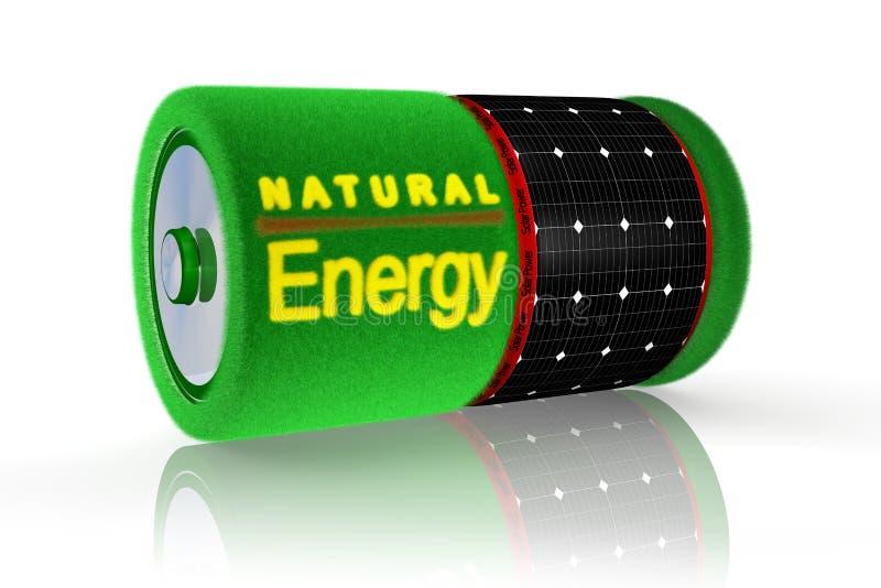 énergie de batterie solaire illustration de vecteur