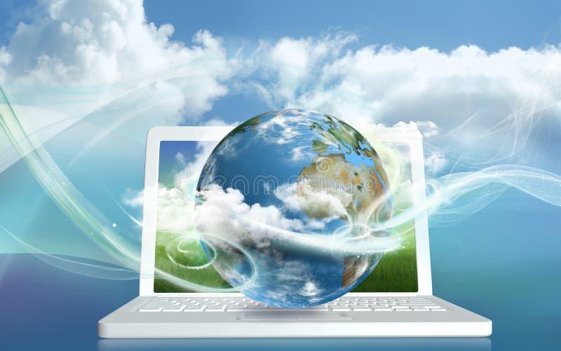 Énergie de calcul de nuage photos stock