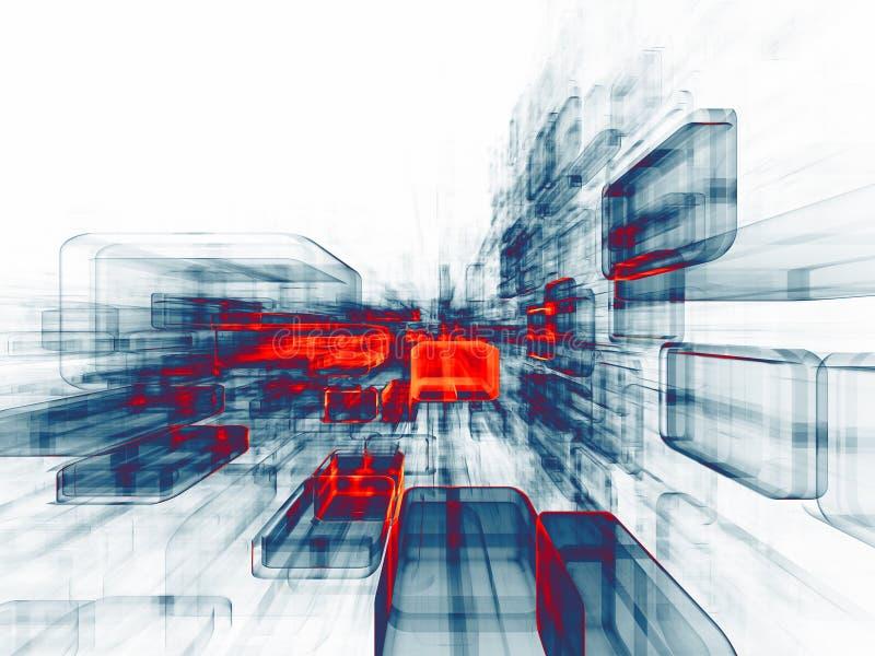 Énergie de l'espace virtuel photos libres de droits
