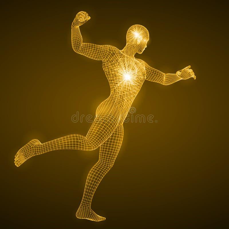 Énergie de l'homme de poinçon illustration stock