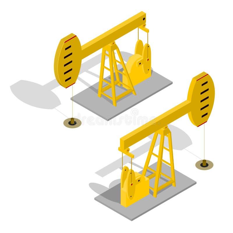 Énergie de pompe à huile industrielle Vecteur illustration stock