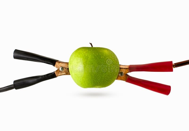 Énergie de puissance de câble de fruit images libres de droits