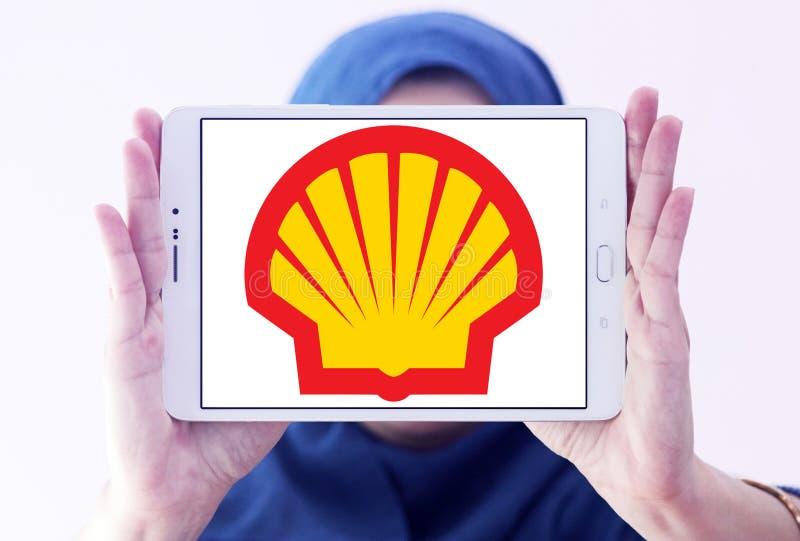 Énergie de Shell et logo pétrochimique de société photo stock
