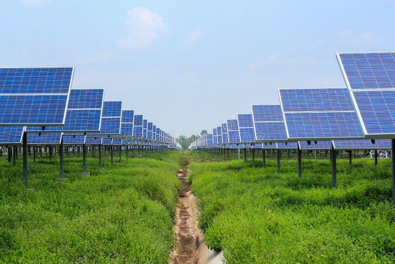 Énergie de substitution de panneau solaire images libres de droits