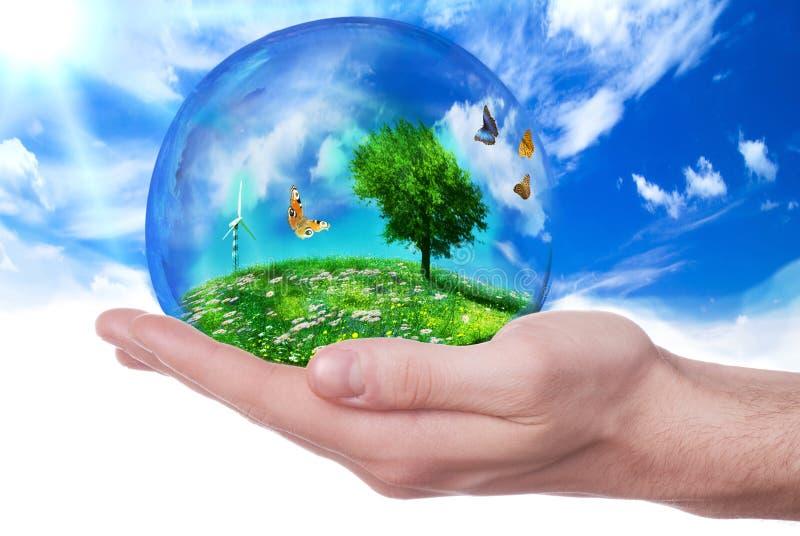 Énergie de substitution et environnement écologique photos stock