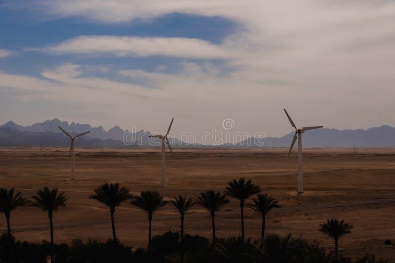 Énergie de substitution de moteurs de générateur de vent photo libre de droits