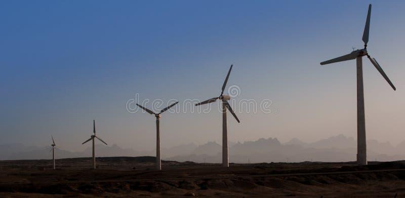 Énergie de substitution de moteurs de générateur de vent photos libres de droits