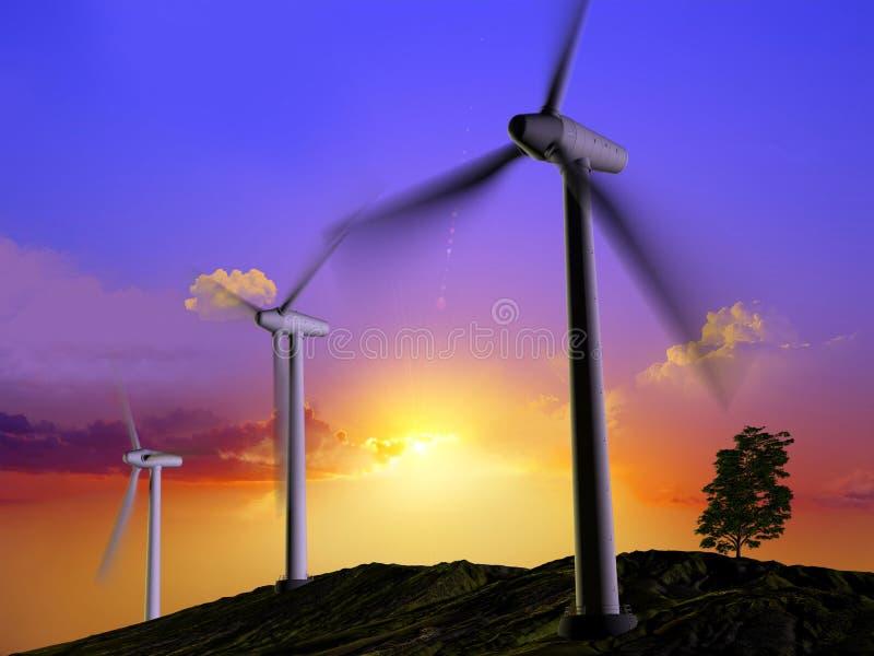 Énergie de vent illustration stock