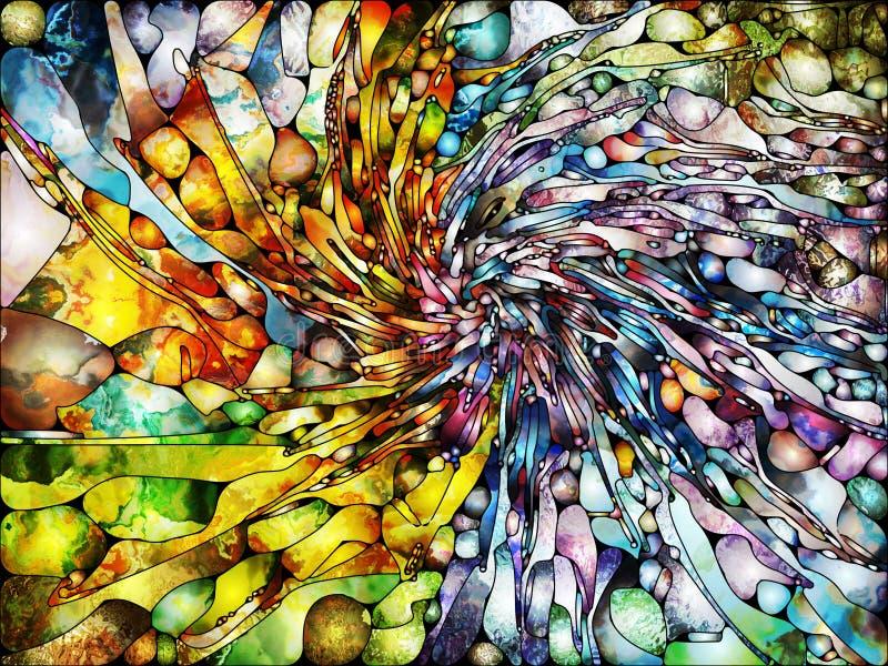 Énergie de verre plombé illustration stock