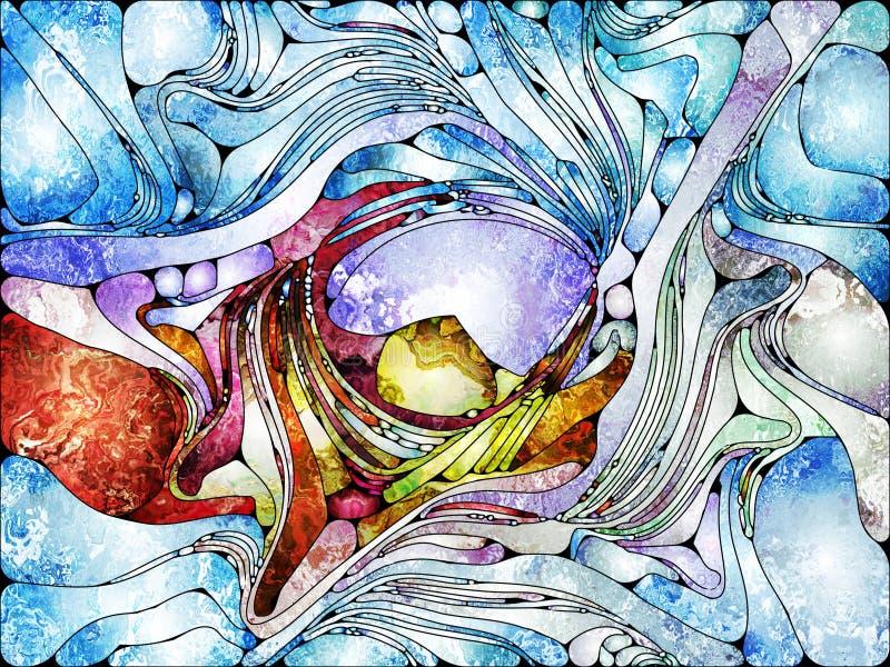 Énergie de verre plombé illustration de vecteur