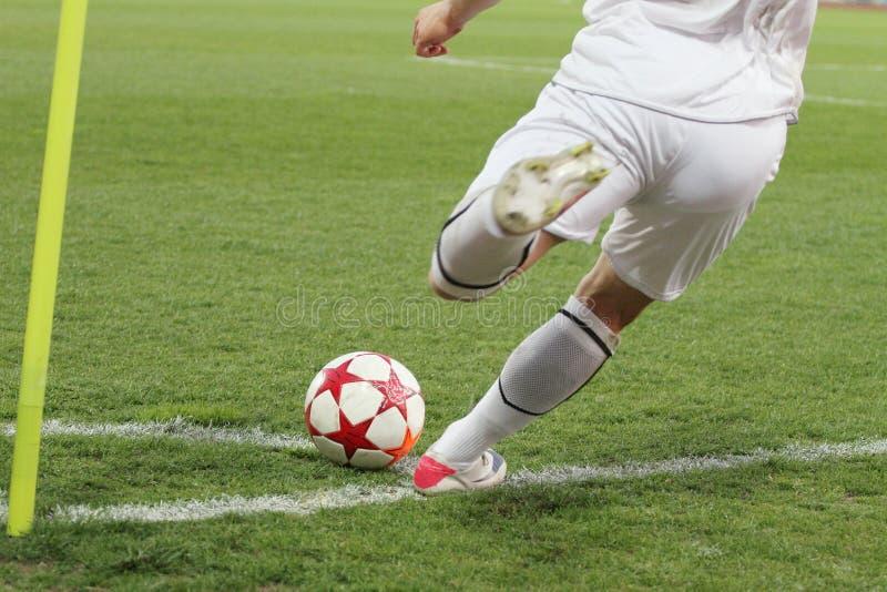 Énergie faisante le coin du football photos stock