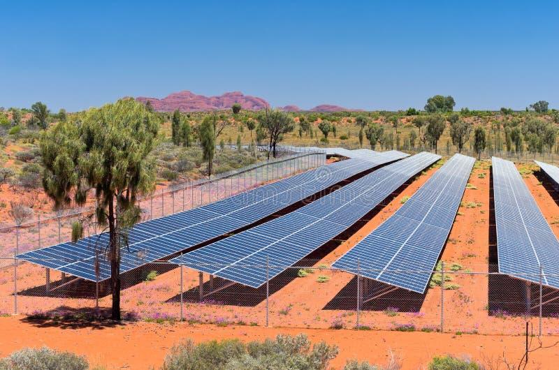 Énergie photovoltaïque solaire dans l'Australie photos libres de droits