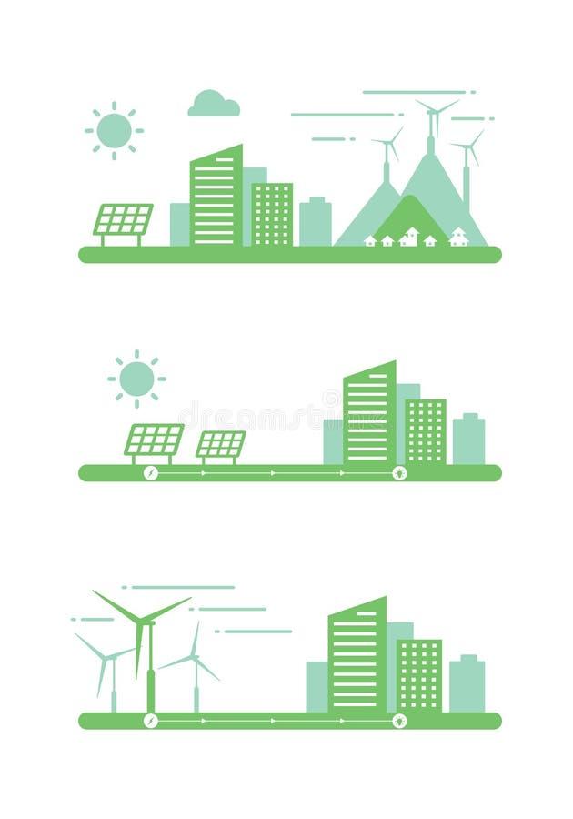 Énergie propre graphique, vecteur illustration de vecteur