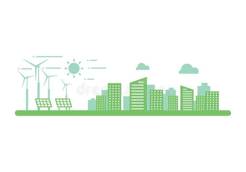 Énergie propre graphique, vecteur illustration libre de droits