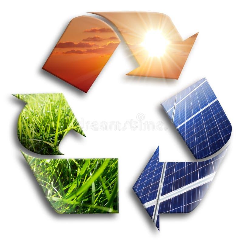 Énergie réutilisée : photovoltaïque illustration de vecteur