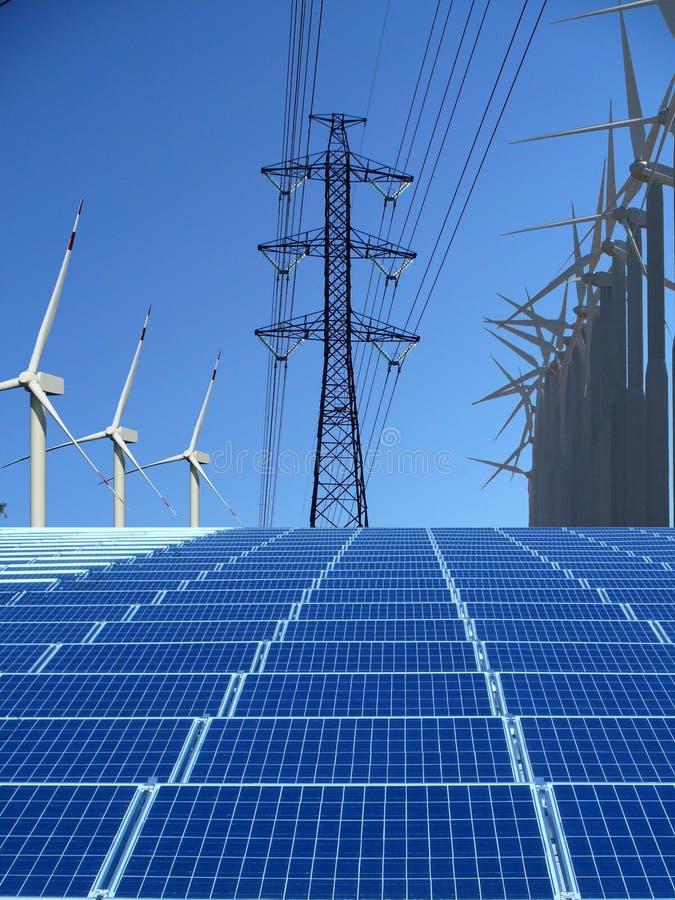 Énergie renouvelable image stock