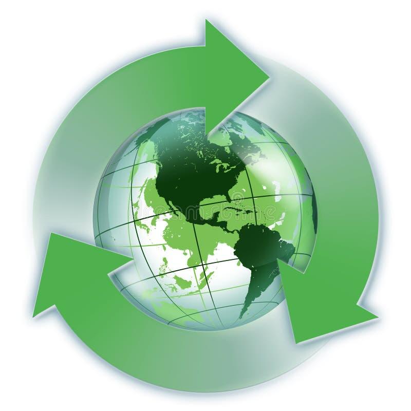 Énergie renouvelable aux Etats-Unis illustration de vecteur