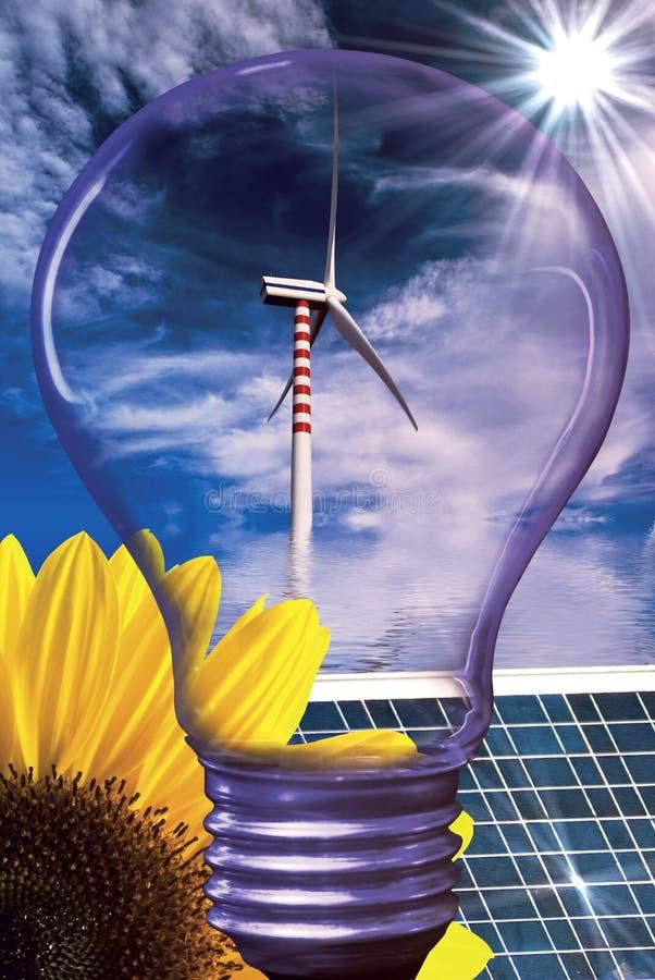 Énergie renouvelable et développement durable illustration libre de droits